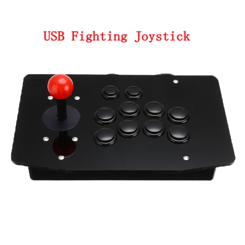 Acrylic Wired USB Arcade Joystick Fighting Stick Gaming Controller Gamepad Video Game For PC(China)