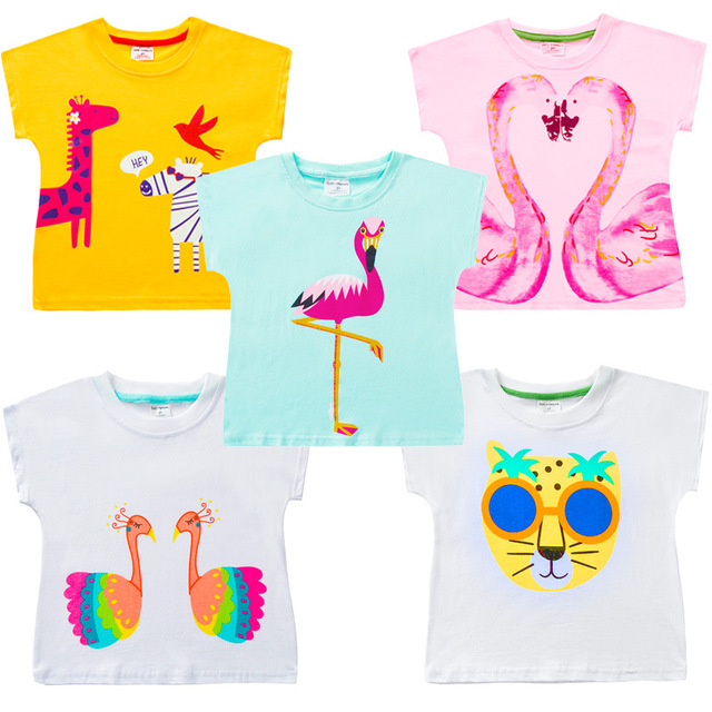 Cotton T-Shirts for Girls with Cute Cartoony Designs