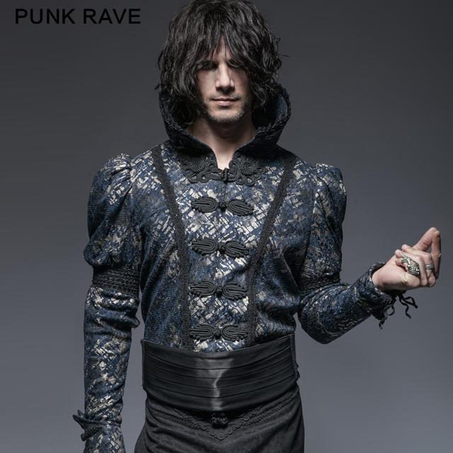 Punk Rave Gótico Hombre Negro de Mezclilla Ajustable Cinturón de Fantasía Accesorios de Moda Cummerbunds Hombres S-174