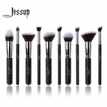 2017 jessup brushes brush set 10pcs makeup brushes foundation kit powder tools eyeshadow blending eyebrow brushes T058