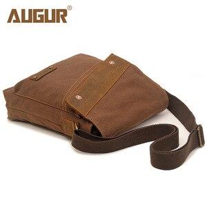 Image 3 - Augur 2020 lona crossbody saco do exército militar do vintage sacos mensageiro grande bolsa de ombro sacos viagem casuais