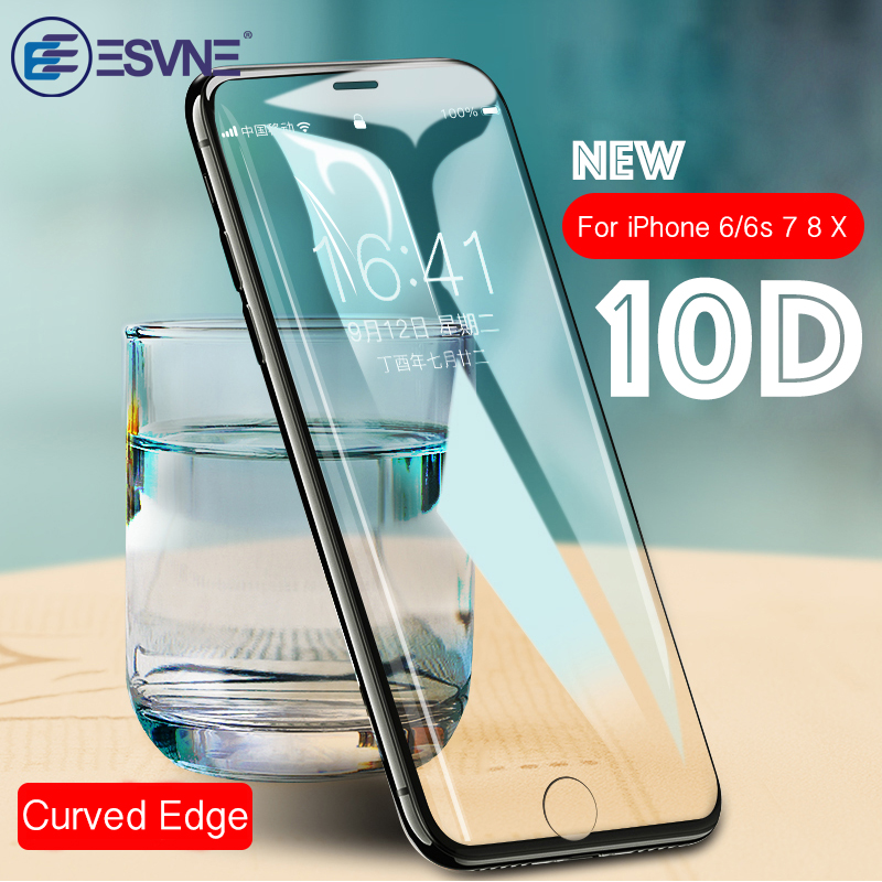 new product 33614 e0647 US $2.87 20% OFF|10D Full Cover Protection Glass on the For iPhone 6 glass  iPhone 7 glass 8 6s Plus Tempered Glass For iPhone X Screen Protector-in ...