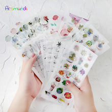 KOWELL Kawaii Japanese Decoracion Journal Cute Diary Flower Cake Snack Stickers Scrapbooking Flakes Stationery School Supplies