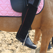 Profession Half Chaps Horse Riding Chaps Suede Leather Equestrian Chaps Body Protector Equipment Genuine Suede Leather Chaps