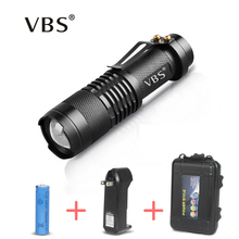 Ultra Bright Flashlight With Battery Q5 Mini Flashlight Led Torch Lamp aa 3 Modes Rechargeable Torch Flashlight Camping Fishing