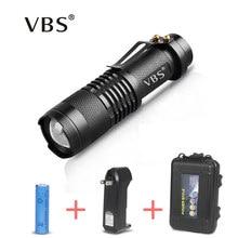 Lampe de poche Ultra lumineuse avec batterie Q5 Mini lampe de lampe torche à Led aa 3 Modes torche Rechargeable lampe de poche Camping pêche