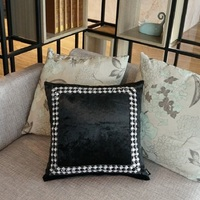 Free shipping cover cushion set luxury cushion case black and white diamond buckle cushion cover