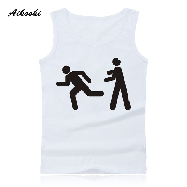 e90695aa97dcf US $8.69 42% OFF|Aikooki Walking Dead zombie Vest Men Women Casual  Sleeveless Cotton Tank Top Hip Hop Summer Male Female Fashion Vest Print  Tops-in ...