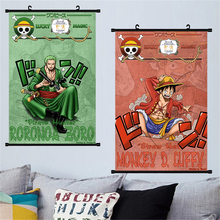 Luffy Canvas Painting Chopper Wall Art Posters Picture Scroll One Piece Poster