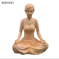 WSHYUFEI Home Decorations Wood carvings Crafts Boxwood carvings Decoration Three open boxes of Buddha Goddess of Mercy Handmade