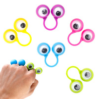 1 Pack Multi Colors Plastic Monster Eye Finger Puppets Wiggle Eyes Kids Gift Fun