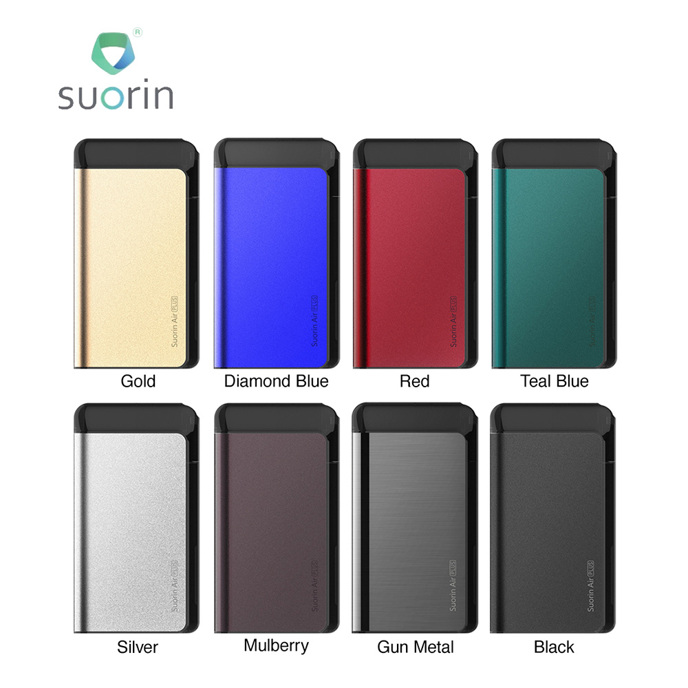100% New Suorin Air Plus Pod Vape Kit 930mAh Five-level LED & Oil Baffle Design Vape Vaporizer Pod Kit VS Drop / Air/ DRAG Nano