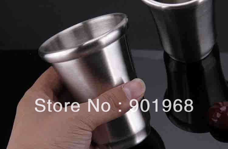 100pcs/lot hotel Stainless steel single wall--tumbler-drinking cup-guest room tumbler-water mug