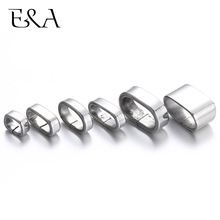 Stainless Steel Spacer Beads Squre Large Hole Slider Charms Leather Bracelet Jewelry Making DIY Supplies Accessories Findings 12
