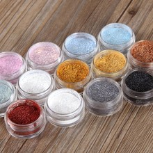 12 Colors Eye Shadow Flash Powder Super Bright Pearl Shining Bright Glitter Powder Pink shining eyeshadow Diamond Makeup M02529