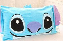 Blue stitch pillowcase short plush soft pillow cover single pillocase