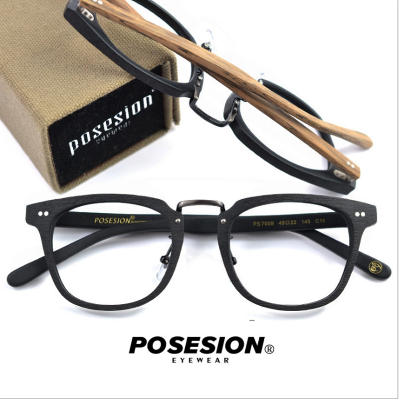 POSESION Eyeglasses Frame Spectacle Men Women Fashion Designed Computer Optical Retro Acetate Myopia Glasses Frame Clear Lens