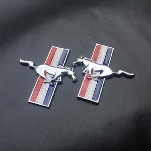 Image 4 - 3D 2 Chiếc Cửa Fender Quốc Huy Ngựa Chạy Xe Hơi Tự Động Miếng dán Tường Cho Ford Mustang Huy Hiệu LogoCar Tạo Kiểu Ford phụ kiện