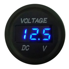 Mini Digital Voltmeter DC 12V-24V Motorcycle Voltage Panel Meter Electromobile LED Car