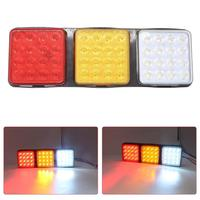 12V Yellow White Red for Waterproof Truck LED Tail Light Rear Warning Lamp for Trailer Caravan Signal Lamp Turn Light Reflector