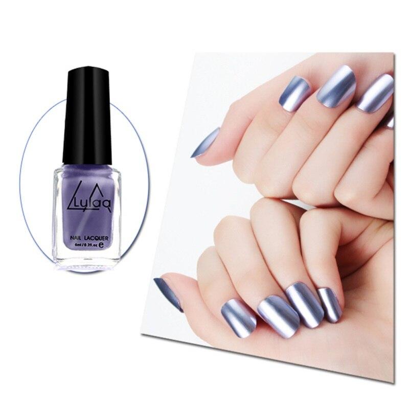 Metal Mirror Nail Polish Plating Paste Metal Color Stainless Steel Nail Polish For Nail Art Vernis Ongle Fashion Nail Beauty