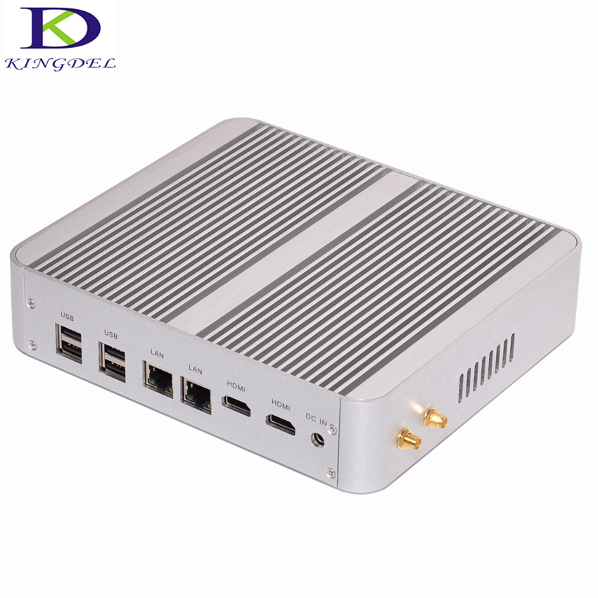 2017 Newest Fanless Mini PC Core i7 5550U Nuc Nettop Computer Intel HD Graphics 6000 Dual HDMI Dual LAN Destop PC 4M Cache