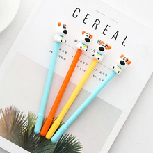 36pcs/lot Kawaii dog series gel pens 0.5mm Stationery fun pen School escolar canetas Office material Student supplies (tt-2975) jinghao kaco info series kawaii transparent gel pen with 16g usb disk multifunction gel pens for student school supplies