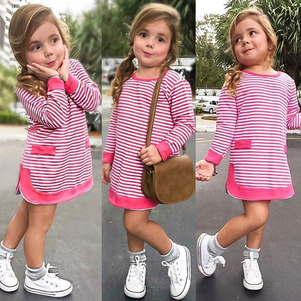 Pudcoco Baby Girl Princess Dress Stripe 0-5T Baby Kids Girls Pageant Dresses Long Sleeve Autumn Spring Warm Outfits 2019 NewestPudcoco Baby Girl Princess Dress Stripe 0-5T Baby Kids Girls Pageant Dresses Long Sleeve Autumn Spring Warm Outfits 2019 Newest