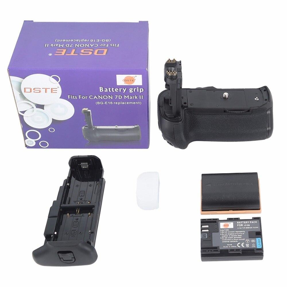 ФОТО DSTE BG-E16 Battery Grip + 2x LP-E6 Battery For Canon 7D MARK II SLR Camera