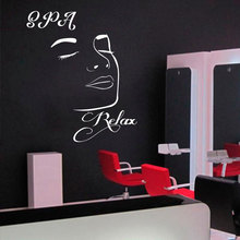 Spa Relax Decal Window Vinyl Sticker Salon  Massage Room Relaxing Woman Stickers Mural 3067