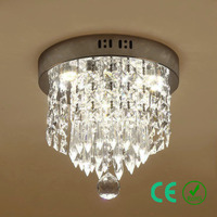 Kronleuchter licht Freies LED E14 k9Crystal Metall basis Kleine Runde Lampe Eingangsbereich Foyer Gang Hotel Rosh CE Benutzerdefinierte Entwickelt