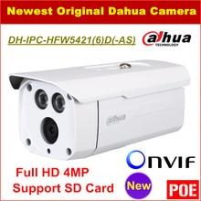 Dahua Ip-камера IPC-HFW5421D Full HD 4MP Водонепроницаемый IP67 Камеры Видеонаблюдения Поддержка POE Onvif и SD Карты DH-IPC-HFW5421D