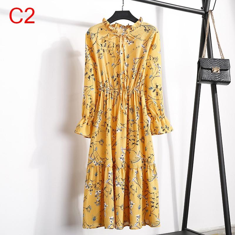 Korean Black Shirt Vestidos Office Polka Dot Vintage Autumn Dresses Women Winter Dress 19 Midi Floral Long Sleeve Dress Female 98
