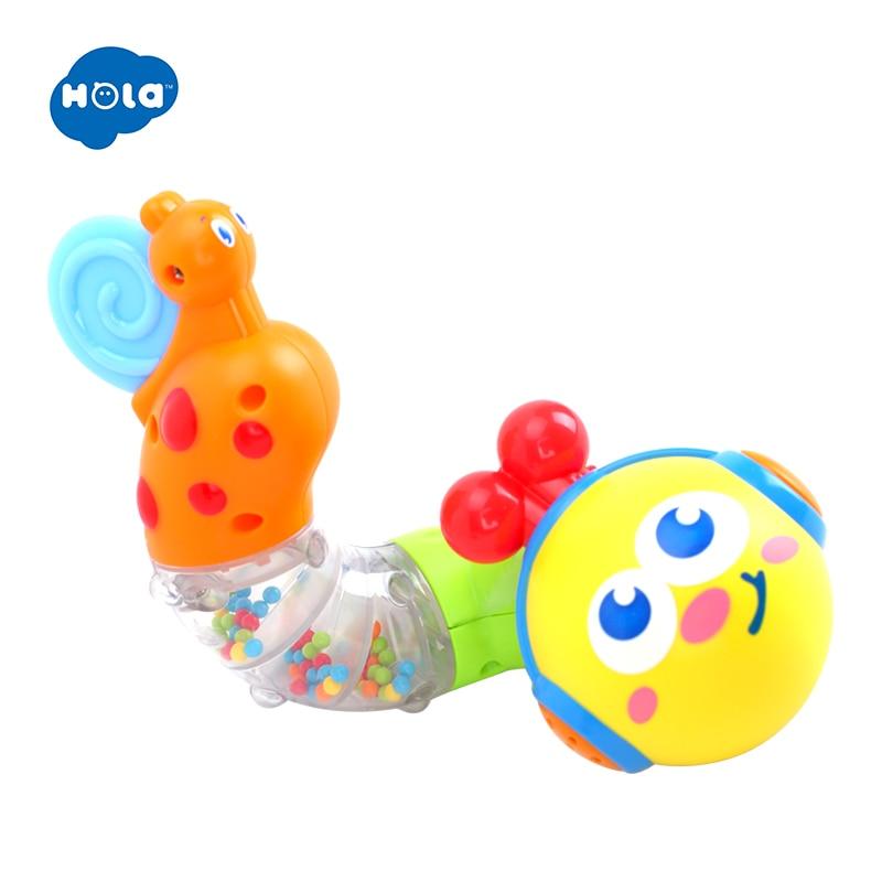 HOLA 917 søte babyleker Elektrisk musikalsk kronglete orm Sett inn tidlige pedagogiske leker for barn Bursdagsgaver til barn