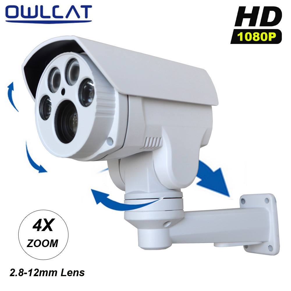 OwlCat HI3516C+SONY322 Full HD 1080P CCTV Camera IR Cut 2MP Outdoor Bullet 4X Optical Zoom 2.8-12mm Varifocal lens PTZ IP Camera smar onvif security hd ip camera 720p 960p 1080p outdoor waterproof cctv bullet camera 4x zoom 2 8 12mm manual varifocal lens