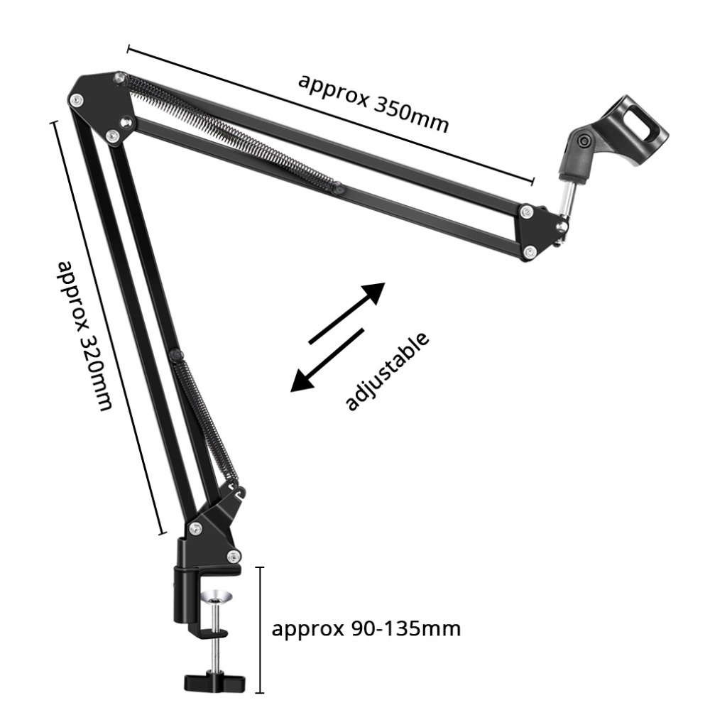 Microphone Stand For BM800 Holder Arm Studio Professional Stand For Microphone Clip Mounting Extendable Recording Mic Stand