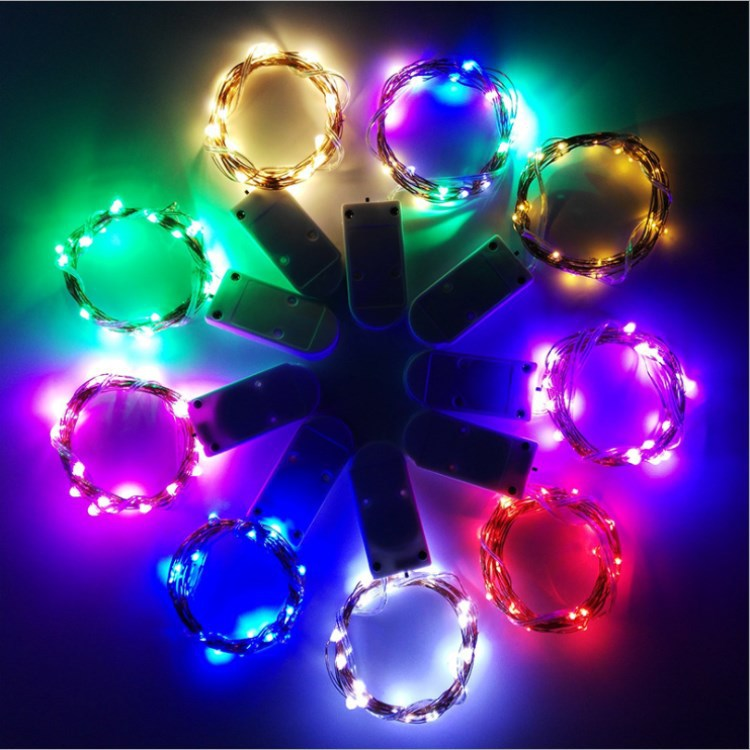 HTB17WiKa0zvK1RkSnfoq6zMwVXav Holiday string 5M 4M 3M 2M 1M LED Creative 7 Color Button Battery Box of Copper Lamp Series Mini Small Decorative lights
