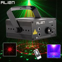 ALIEN RGB Mini 3 Lens 48 Patterns Mixing Laser Projector Effect Stage Remote 3W Blue LED Light Show DJ Disco Party Lighting
