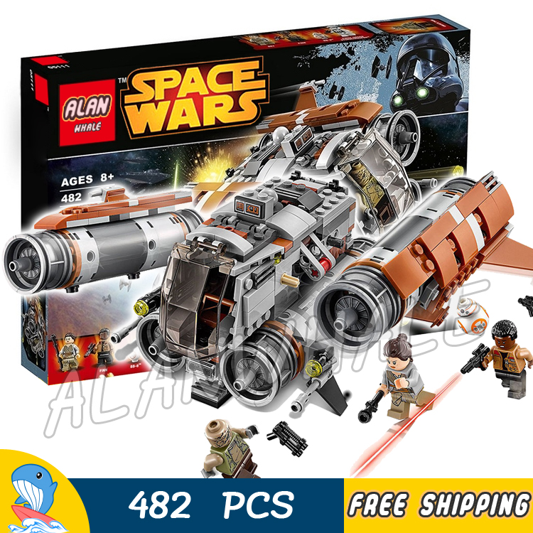 482pcs New Space Wars Jakku Quad Jumper 05111 Model Building Blocks Teenagers Toys Kit Set Bricks Rey Finn Compatible With Lego toys in space
