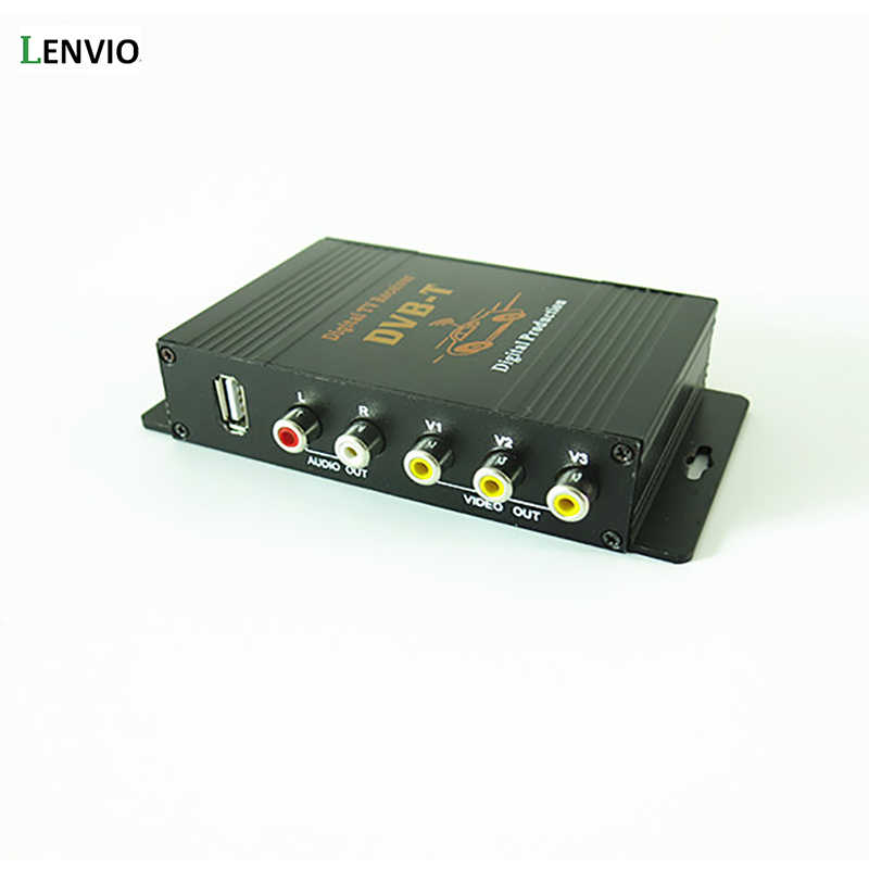 Lenvio DVB-T MPEG-4 Doble sintonizador de coche DVB-T caja de TV Digital Móvil TV Digital RECEPTOR de Turner auto tv Box 140- 190 KM/H