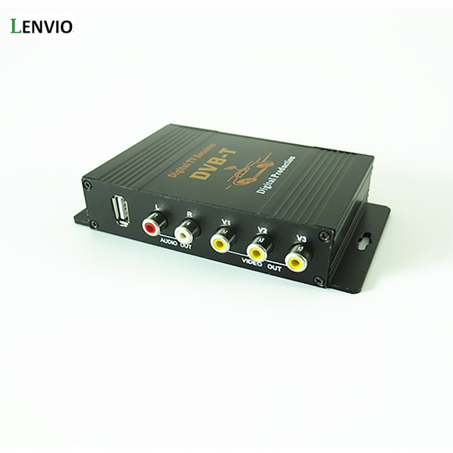 Lenvio DVB-T MPEG-4 Dual Tuner Car DVB-T Mobile Digital TV Box Digital TV Turner Receiver auto tv box 140-190KM/H