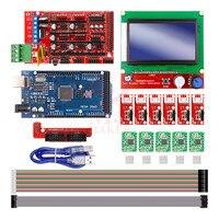 Acessórios da impressora 12864 rampas LCD 1.4 MEGA2560 R3 A4988 3D placa do drive