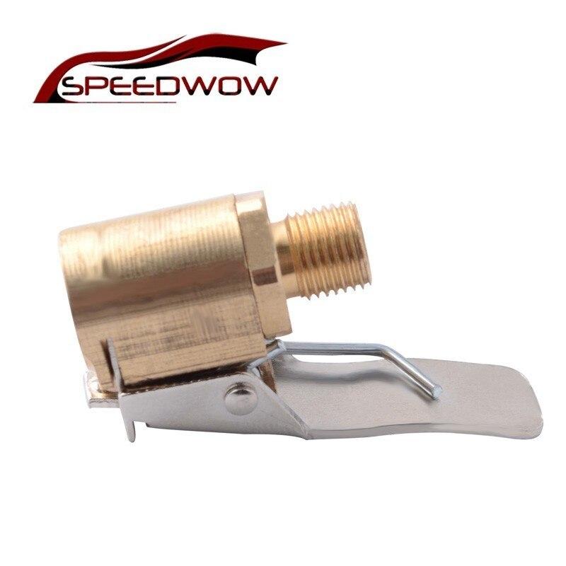 SPEEDWOW coche camión de latón bomba de aire Chuck Válvula de neumático 8mm válvula de la bomba Clip abrazadera conector adaptador