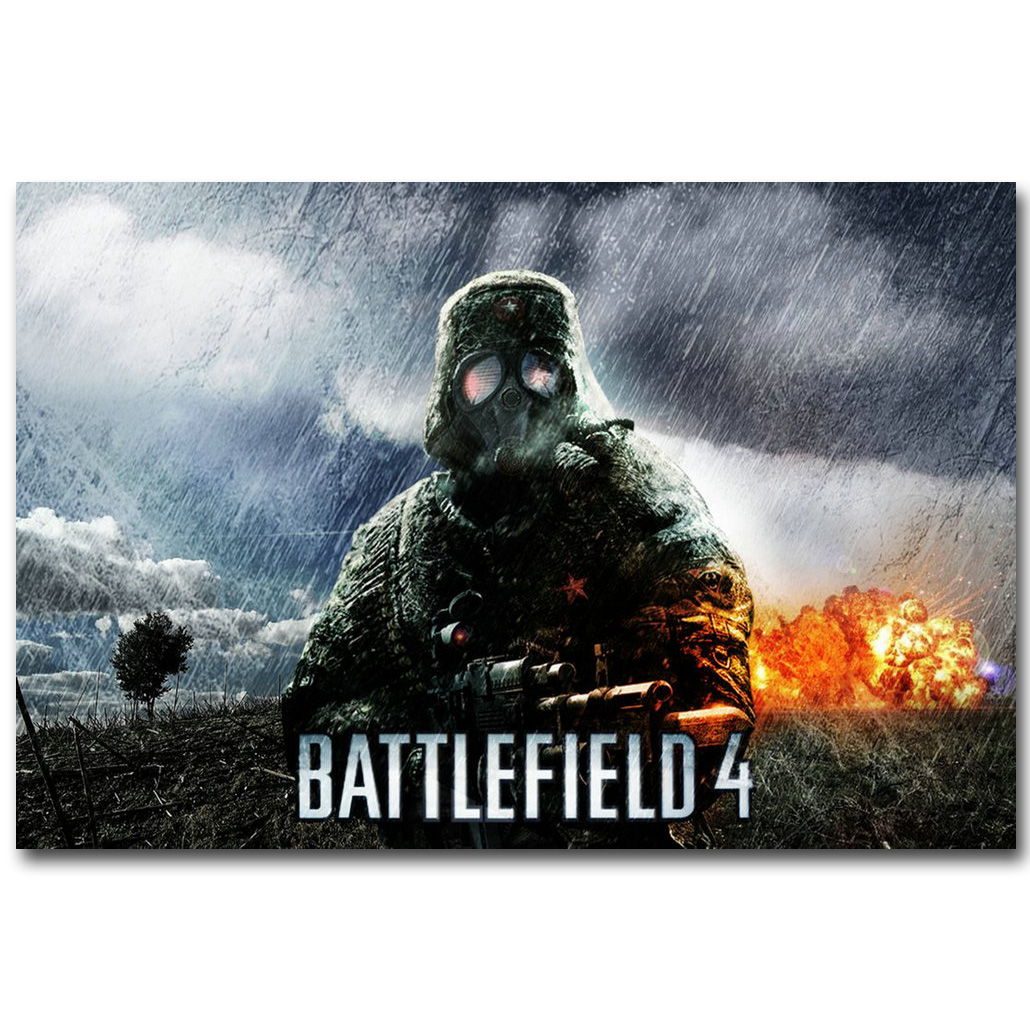 Battlefield <font><b>BF</b></font> 1 4 Art Silk Fabric Poster Print 13x20 24x36inch Hot Game Soldier Pictures for <font><b>Children</b></font> Room Wall Decor Gift 16 image