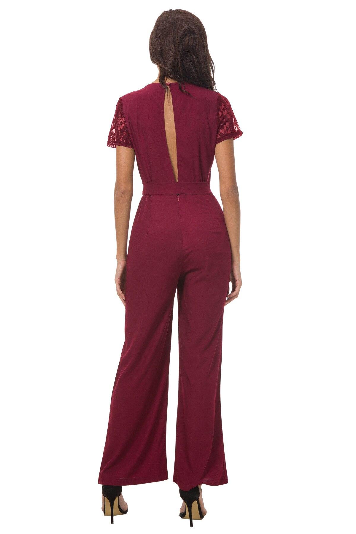 Warehouse Cord Zip Front Combinaison Femme