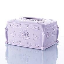 BF040 Fashion European style rose carve carton tissue box 17*12.5*9*8.8cm