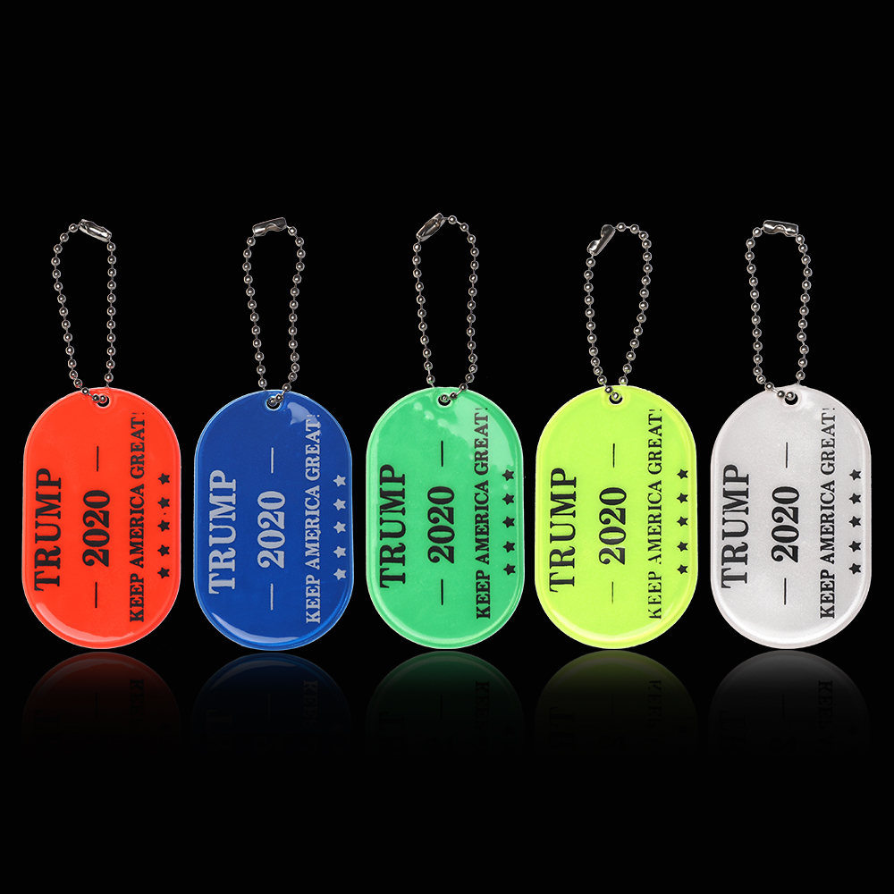 1Pc US Re-Election Trump For President 2020 MAGA Make America Great Keep America Great Reflective Keychains Bag Pendant Gifts