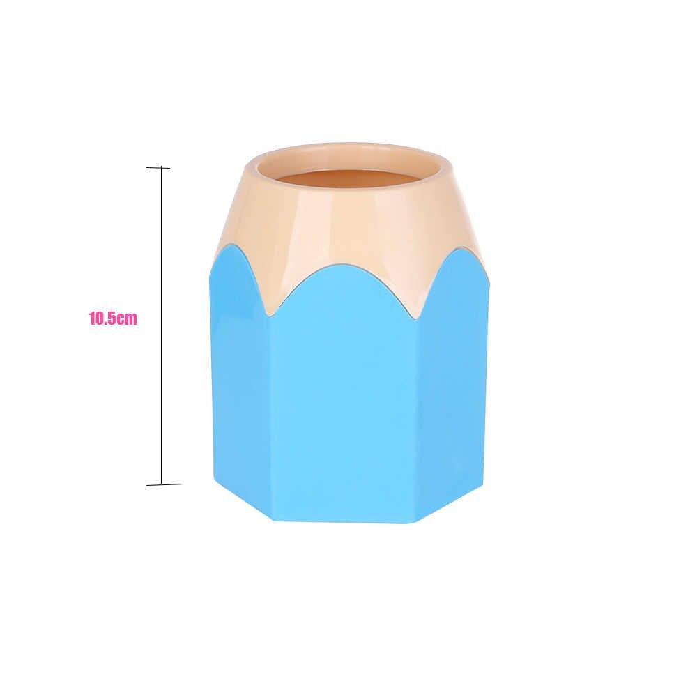 1pc 新ミニ鉛筆ポットホルダーペンストレージ花瓶文房具ギフトカップメイクブラシコンテナボックス