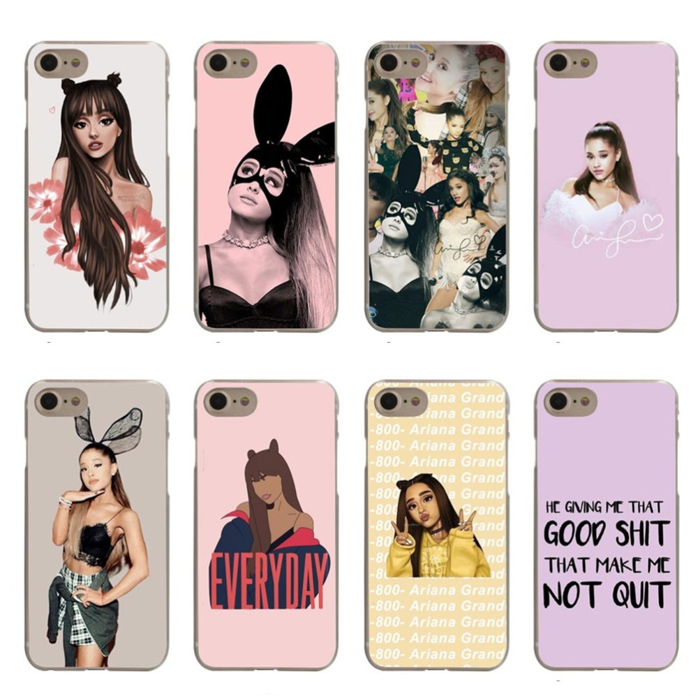 Cat Ar Ariana Grande Pink Girl Hard Phone Cover Case for