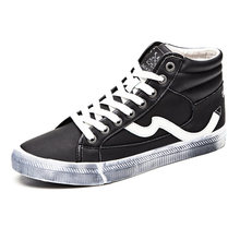 Men Shoes Big Size 39-47 Fashion High Top Canvas Casual Shoes Patchwork Men's Black Vulcanize Shoes 2019 Spring Lace Up Flats